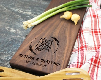 Personalized Cheese Board - Engraved Cheese Board, Custom Cheese Board, Housewarming Gift, Wedding Gift, Engagement Gift, Anniversary (032)