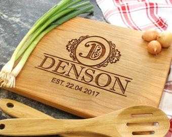 Personalized Cutting Board - Engraved Cutting Board, Custom Cutting Board, Housewarming Gift, Wedding Gift, Engagement, Anniversary (029)