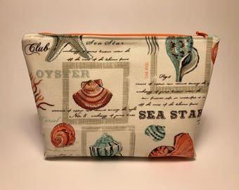Zippered Cosmetic Bag