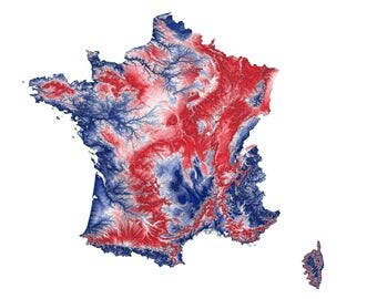 France Topographic Map