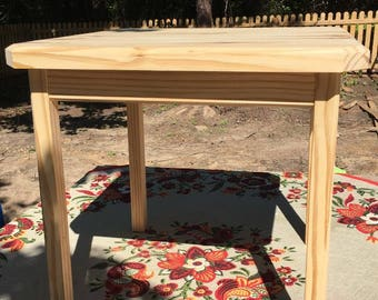Solid Pine end table.