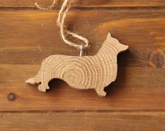 Corgi Ornament - Wood Ornament