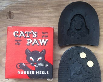 Cat's Paw Non Slip Twin Grip Rubber Heels 15-16 *boxed*