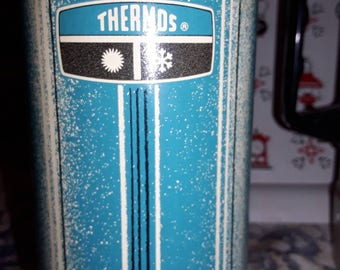 Turquoise Blue THERMOS Brand Vintage Thermos