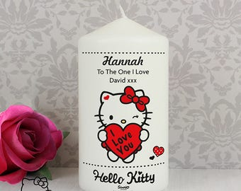 Personalised Hello Kitty Valentines Day Birthday For Her I Love You Candle Gifts Ideas Womens Girls Anniversary