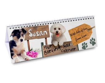Personalised Your Barking Mad Desk Calendar Gifts Ideas For Her Girls Womens New Home House Warming Years Kitchen