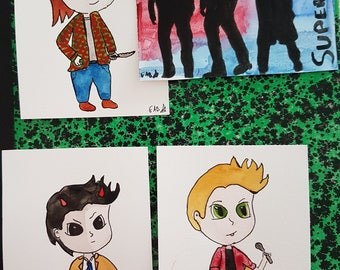 Pack of four Supernatural postcards