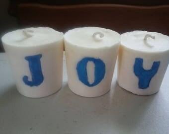 Customized votive Candles