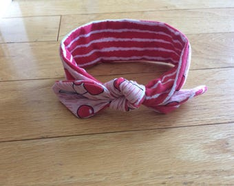 Cherry Knotted Headband