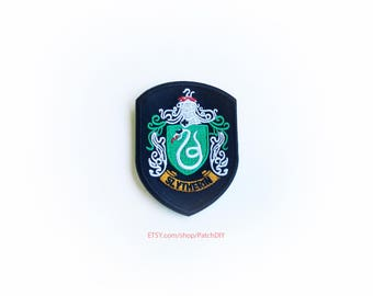 Patch SLYTHERIN Harry Potter iron on badge embroidered academy costume Wizard Magic DIY bag hat tie vest halloween kid fun craft custom