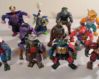 Vintage Teenage mutant Ninja Turtles Playmate/Mirage Toy Lot