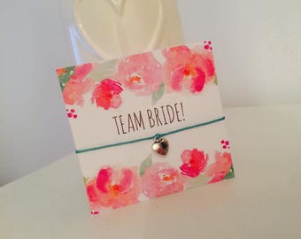 Team Bride Hen Party Wish Bracelet Hen Party Favours Bride Tribe Accessories Can Be Personalised!