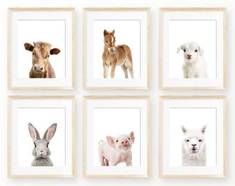 Nursery Wall Art, Farm Animals Digital Print, Instant Download Printable Art, Printable Wall Art, Digital Download, Instant Digital Art