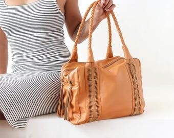 Leather Travel Bag For Women, Duffel Bag Women, Weekend Bag, Women's Weekender Bag, Duffel Bags For Women, Travel Bag Women, FREE SHIPPING!