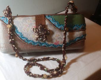 Mary Frances handcrafted and hand beaded handbag