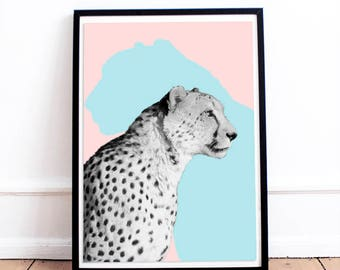 Animal Print Wall Art leopard wall art | etsy