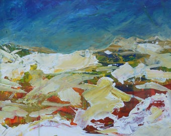 Mountains and Sky Painting