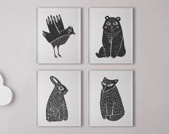 Printable Woodland Nursery Decor, Woodland Nursery Wall Art, Boy Room Art, Boy Nursery Decor, Boy Nursery Wall Art, Boy Room Decorations