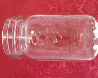 Vintage Ball Special Wide Mouth Mason Jar