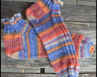 SummerSneakerSocks women's size UK 6,5-7,5 / US 8,5-9,5, hand knitted