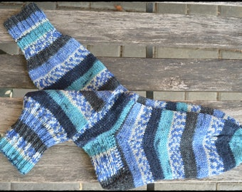 handknitted socks women size UK 4-5, US 6-7