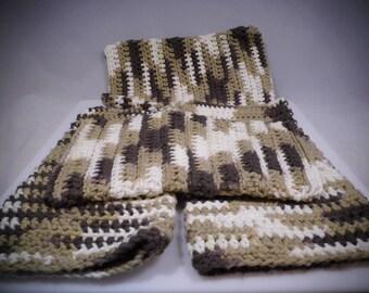 Brown, Crochet Wash Mitt, Crochet Bath Mitt, Crochet Wash Cloth, Knit Wash Mitt, Knit Bath Mitt, Knit Wash Cloth, Bath Accessory, Shower