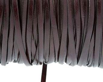 3mm Burgundy leather strap
