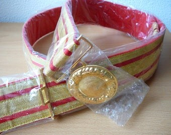 Sash belt coupling red-gold 48 mm wide for waist size 130-145 cm