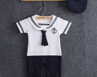 Baby Sailor Rompers