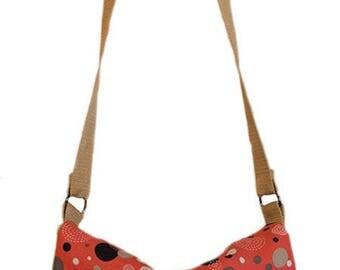 Reversible pattern and vintage pink and blue shoulder bag/satchel bag