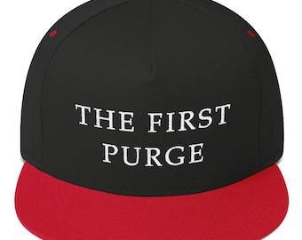 the first purge hat Flat Bill Cap