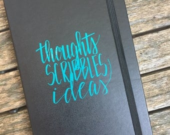 Thoughts, Scribbles, Ideas | Sketchbook or Journal Decal | Any Color
