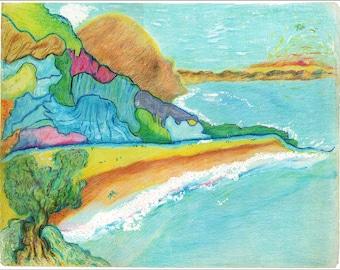 "Seaside Dreamer - 14""x11"""