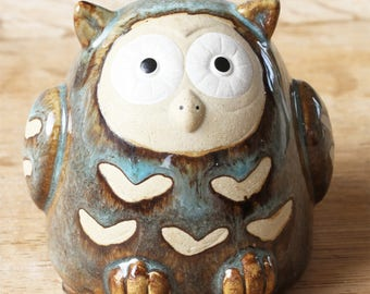 Ceramic Owl Piggy Bank,