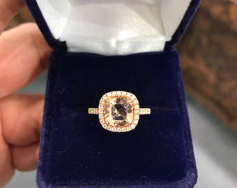 Morganite and Diamond Engagement Ring!
