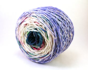 """handdyed yarn merino DK weight faded & speckled """"potion class"""""""