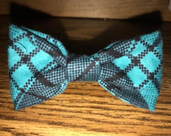 Teal & Black Plaid Bow Tie Plaid Collection