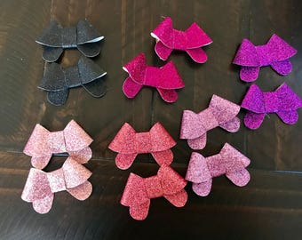 Glitter pigtail sets