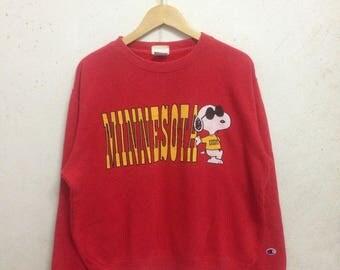 Vintage 90's Peanuts Snoopy & Champion Sweatshirts Medium