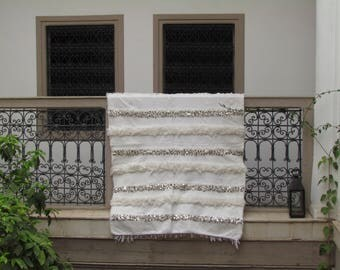 Аутентичное свадебное покрывало Хандира, ручная работа, Ref KH00025
