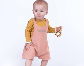 Organic Baby Clothes Dungaree Romper Onesie