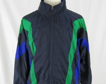 Vintage 90's Winners color block Windbreaker Jacket Size XL Green,Navy, and Blue