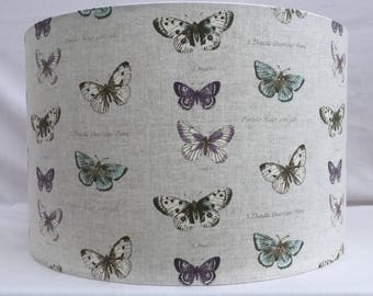 Butterfly fabric lampshades, handmade ceiling/table, large 40cm or 30cm or 20cm