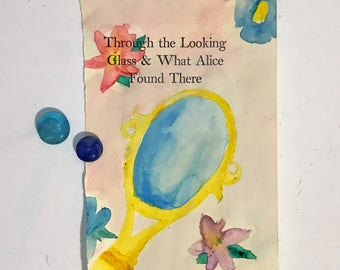 Alice in Wonderland Watercolor Book Page