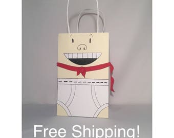 50 Captain Underpants Inspired , Mr. Krupp Party Bags Goody Loot Totes