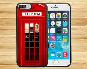Red Telephone Booth Best Of London Pattern Case Cover iPhone 8 Plus iPhone X iPhone 7 7s Plus iPhone 6 6s Plus 5 5s iPhone 4 4s ipod touch