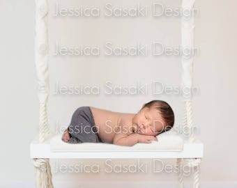 Digital background newborn composing, swing, instant download