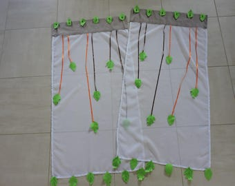 curtains window plant theme sheets