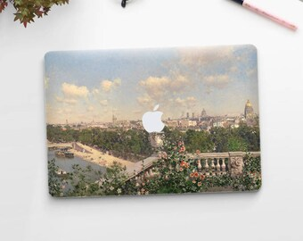 "Martín Rico, ""View of Paris"". Macbook Pro 15 sticker, Macbook Air 13 cover, Macbook Retina decal. Macbook cover. Macbook sticker."