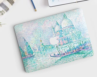"Paul Signac, ""Venice, La Salute"". Macbook Pro 15 decal, Macbook Air 13 skin, Macbook 12 sticker. Macbook Pro sticker. Macbook skin Art."